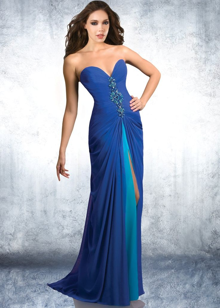 Deep blue color dress