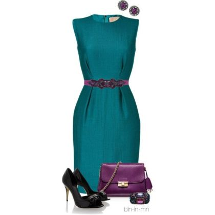 formal dress with shoes