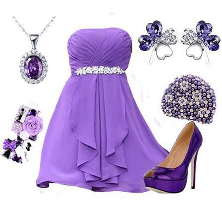 what to wear with a purple dress